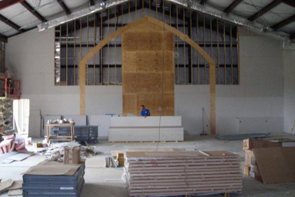 New worship space July 3
